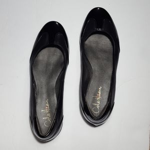 Cole Haan Black Patent Leather Nike Air Flats